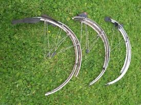 "700c /27"" ESGE Mudguards, One pair Ok, other two for spares"
