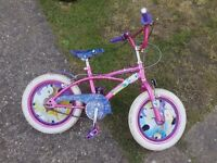 "Disney princess girl's bike, 16"" wheels"