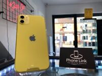 Yellow Apple Iphone 11 64GB Factory Unlocked To All Networks + Warranty