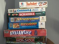 A selection of classic childhood board games