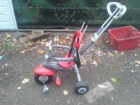 CHEAP kids trike, push chair Childrens Bike Stroller Parental control 3 wheeler cycle