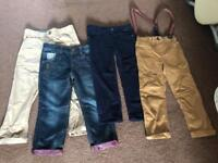 4x boys trousers clothes bundle 3-4 years (2 pairs brand new)