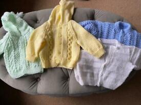 0-3 month Knitted cardigan bundle