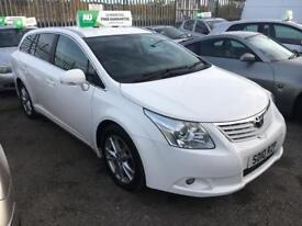 **TOYOTA AVENSIS TR D-4D 2.0 DIESEL 5 DOOR WHITE ESTATE (2010 YEAR)**