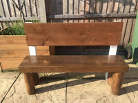 Children's garden bench made from solid wood