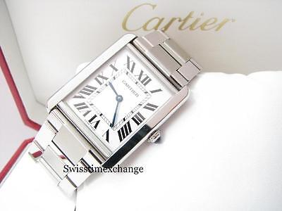 CARTIER TANK SOLO LARGE W5200014 STEEL,CARTIER CERTIFICATE & BOX 100%AUTHENTIC