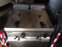 CATERING COMMERCIAL TWIN TANK FRYER CAFE RESTAURANT TAKE AWAY KITCHEN BAR