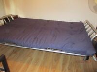 Metal frame double sofa bed and mattress