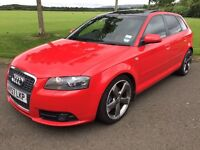 2007 (57) AUDI A3 1.8T S-LINE *AUTOMATIC*, 2 TONE LEATHER INTERIOR,PANORAMIC GLASS ROOF, SPORTS BACK