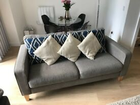 John Lewis Sofa, excellent condition (less than a year old), large 2 seater, charcoal grey
