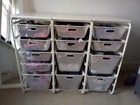 Ikea Algot drawers with top shelf