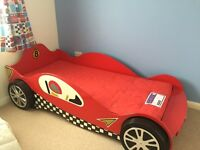 Childs McLaren single red Racing Car Bed and Mattress