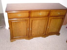 SIDEBOARD AND MATCHING CORNER TV CABINET