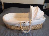 Verbaudet moses basket and mattress