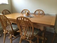 Bevan Funnel Dining Table and Six Chairs