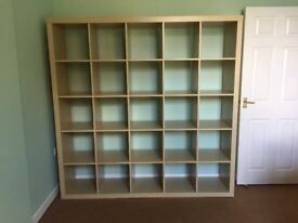 IKEA Kallax Shelving Unit 182x182cm (5x5) in light oak