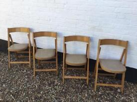 """Set Of 4 """"Benchair"""" Vintage Retro Mid-Century 1940's Chairs Made Of Beechwood"""