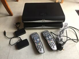 Sky + HD Box plus Wireless Connectors & Controllers x2