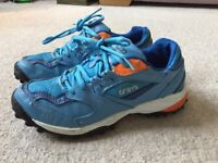 Size 5 Blue and Orange Grays Hockey AstroTurf Trainers