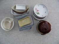 large selection of baking dishes