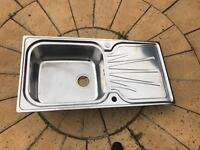 New stainless steel sink