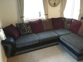 DFS 'Dare' Cushion Back, Foam Cushion, Left Hand Arm Corner Sofa