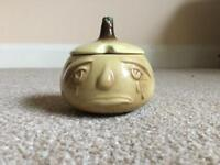Pickled onion jar with face