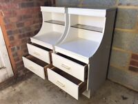Pair of White Melamine Bedside Tables / FREE