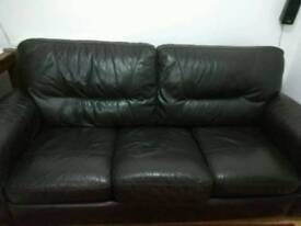 Harveys pure leather sofa and foldable bed