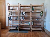 Vintage Modular Book Shelves Minimalist Folding Stackable bookshelf / bookcase