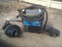 Fish pond pump and filter