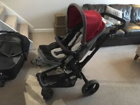 Jane Rider pushchair with carrycot and accessories