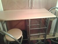 Kitchen table & 2 stools,,great condition
