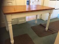 Up cycled farmhouse style dining table