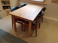 Pine Ikea dining table