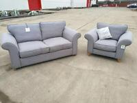 Latitude Grey Ash Sofa & Chair Set