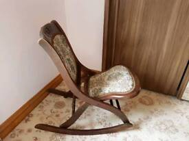 Vintage fold up rocking chair