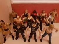 13 Jakks WWF figures.