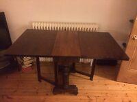 Gateleg oak fold down table
