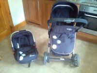 Pushchair and car seat for sale