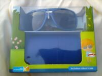 Children's sun glasses with case by Eyewear Brand New in Box 100% UV protection