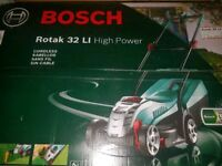 Bosch Rotak 32 Li cordless lawnmower Brand New in box RRP£330