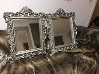Pair of beautiful silver mirrors for sale