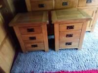 Solid Oak Bedside tables from Oak Furniture Land