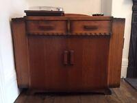 Gorgeous Art Deco Sideboard, Oak Veneer with Side Drinks Cabinets