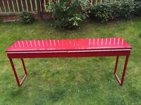 Red gloss Ikea Besta Burs desk / console table / sideboard, £50