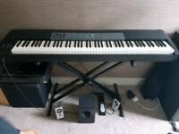 M-audio 88 stage piano. Fully weighted keys