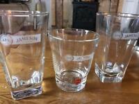 Glassware Jameson's Irish wiskey