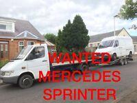Mercedes Sprinter 208D - 308D - 310D - 312D - VANS WANTED ANY CONDITION