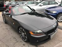 2005/55 BMW Z4 2.0i ROADSTER,2DR BLACK,RED LEATHER,19 ALLOYS,STUNNING LOOKS,DRIVES REALLY WELL